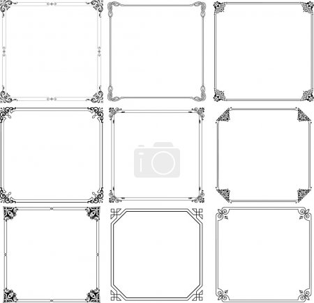 Illustration for Vector decorative frames on white background - Royalty Free Image