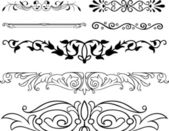 Elegance vector floral ornaments on white background