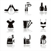 Set of 9 black beauty and fashion icons