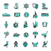 Signs Vacation Travel & Recreation Third set icons
