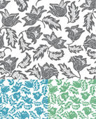Seamless flowers pattern Set wallpaper