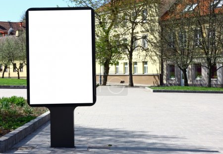Photo for Empty billboard on the old city street to add text - Royalty Free Image