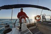 Cruising on a sailing boat