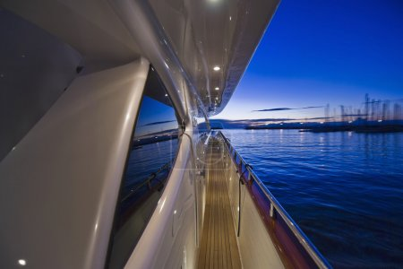 Italy, Tirrenian sea, Tuscany, Viareggio port, luxury yacht