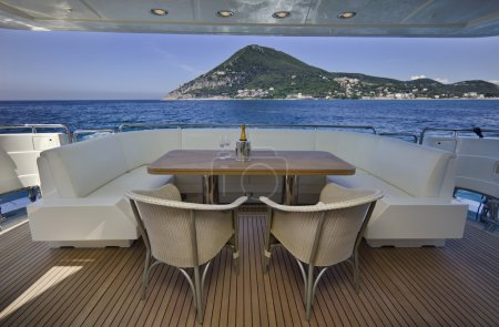 Italy, S.Felice Circeo, luxury yacht Rizzardi Posillipo Technema 95