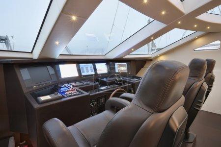 Italy, Tuscany, Viareggio port, luxury yacht Tecnomar 36