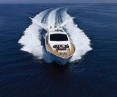 Italy, Tirrenian sea, off the coast of Viareggio, Tuscany, luxury yacht Tec
