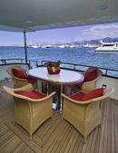 Italy, Tuscany, Viareggio, Tecnomar Nadara 88' Fly luxury yacht