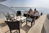 Italy, Tuscany, Tecnomar Velvet 100 luxury yacht