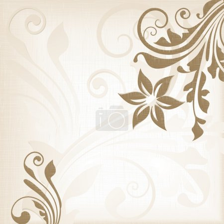 Textured background with floral pattern