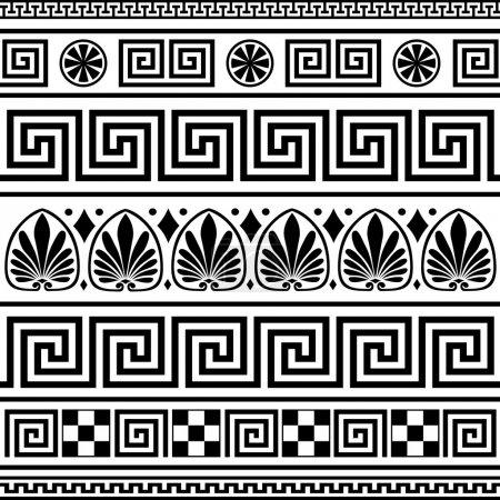 Conjunto de vectores griegos ornamentos