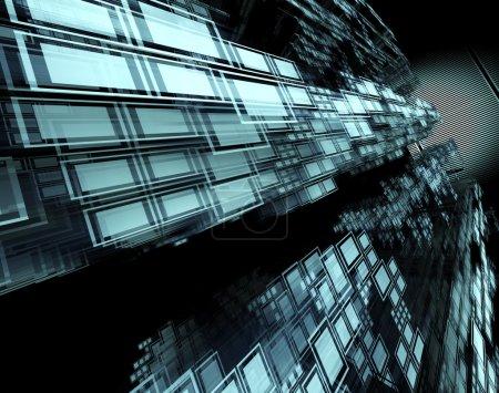 Photo pour 3d fond de la technologie abstraite et carrés - image libre de droit