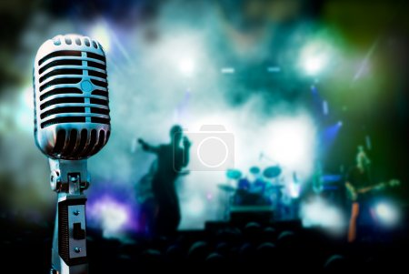 Photo for Illustration concert and vintage microphone - Royalty Free Image