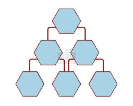 Photo pour Organigramme simple avec espaces vides (rendu 3d ) - image libre de droit