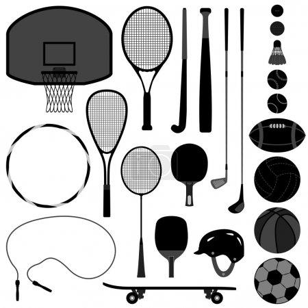 Photo pour Un ensemble d'outils et d'équipements sportifs - image libre de droit