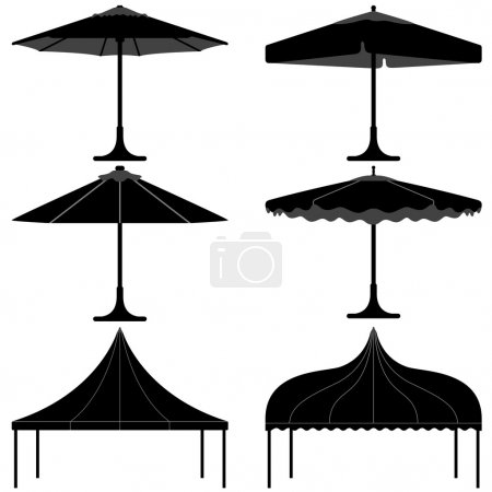 Umbrella tent gazebo canopy camp silhouette