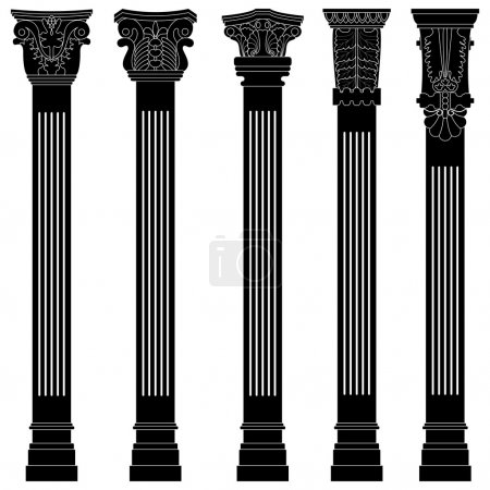 Pillar column antique ancient old roman greek architecture