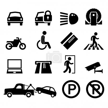 Car Park Parking Area Sign Symbol Pictogram Icon Reminder