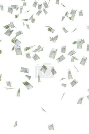 Photo for Money rain of 100 euro banknotes - Royalty Free Image
