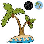 Deserted Island Palm Trees