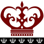 King Crown Icon and Border