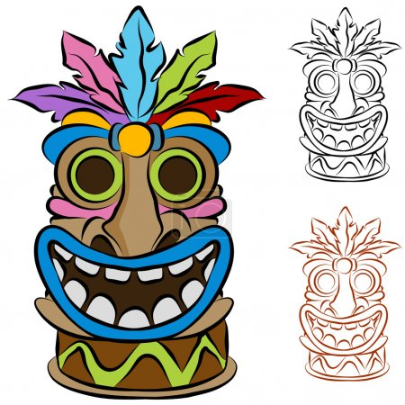 Wooden Tribal Tiki Idol