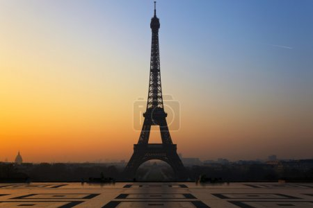 The Eiffel Tower in Paris, seen from the Trocadero...