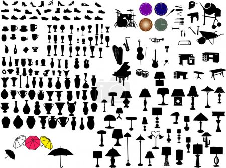 Objects silhouette