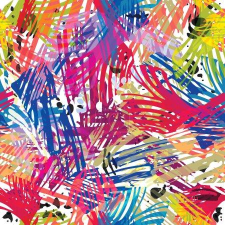 Color paints seamless pattern.