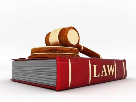 Photo pour Belle image d'attributs judiciaires sur fond blanc - image libre de droit