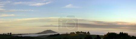 Early morning sunrise over New Zealand landscape