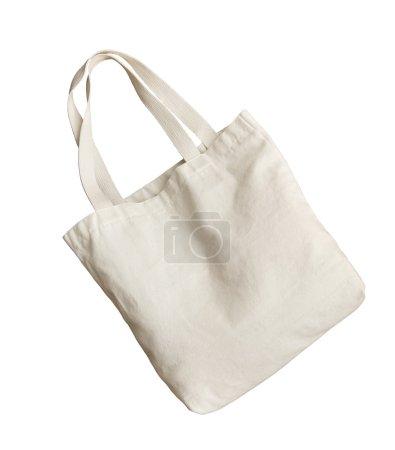 Photo for White nano fabric like shopping bag isolated on white - Royalty Free Image