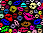 Colorful lips prints