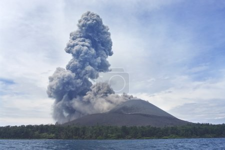 Volcano eruption. Anak Krakatau