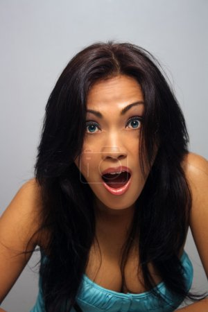 Beautiful Shocked Asian Girl