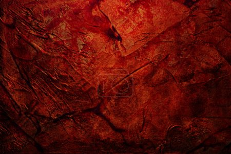Photo for Red old stucco, grunge background - Royalty Free Image