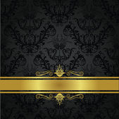 Luxury charcoal and gold book cover This image is a vector illustration