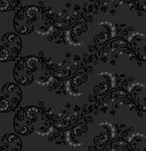Bezešvé černé a stříbrné olistění vzor