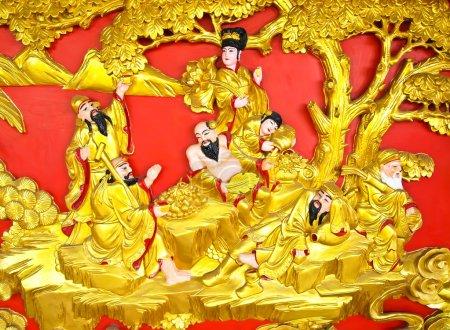 The Eight Immortals Statue (ba xian)
