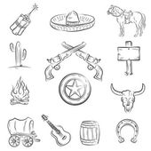 Wild West Set A collection of stylish vector images on the theme of the Wi