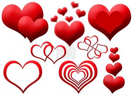 Photo pour Clipart de coeur isolé rouge - image libre de droit