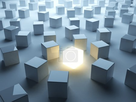 Luminous cube. Individuality