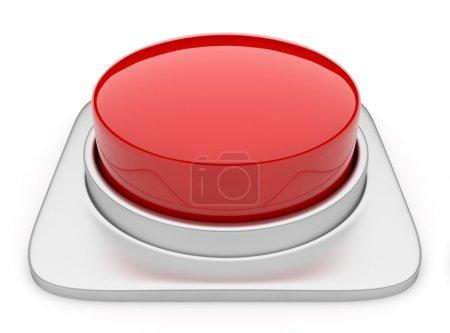 Photo pour Bouton rouge 3d. Icône isolée - image libre de droit