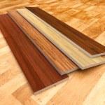 Wood floor. 3D illustration, color - brown...