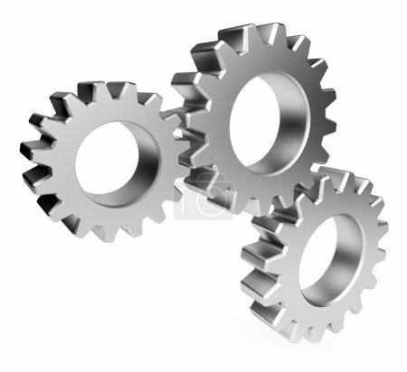 The mechanism. Gear 3d. Isolated