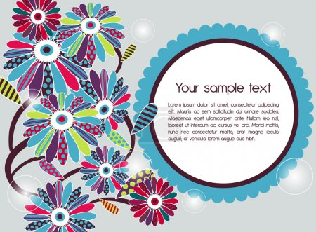 Photo for Abstract vector background with flowers - Royalty Free Image