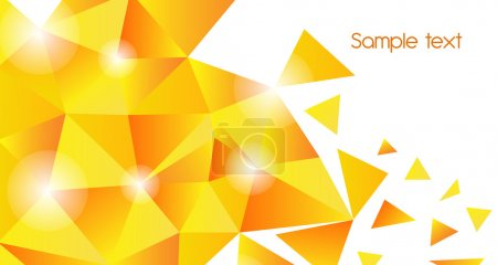 Photo for Gold triangle vector background - Royalty Free Image