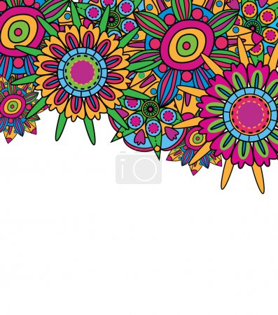 Photo for Abstract fantastic vector background with bright flowers - Royalty Free Image