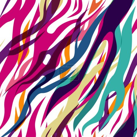 Photo for Abstract seamless vector multicolor zebra pattern - Royalty Free Image