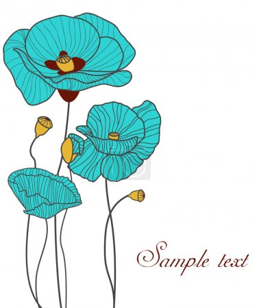 Photo for Blue vector poppies - Royalty Free Image